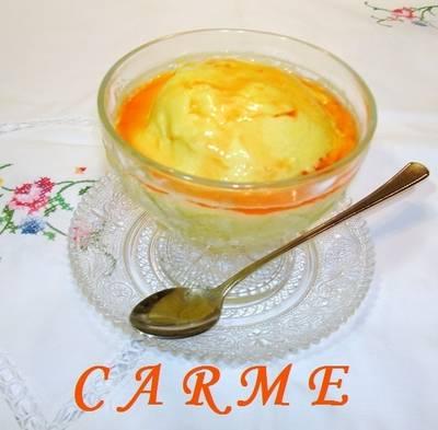 Mousse helado de mango