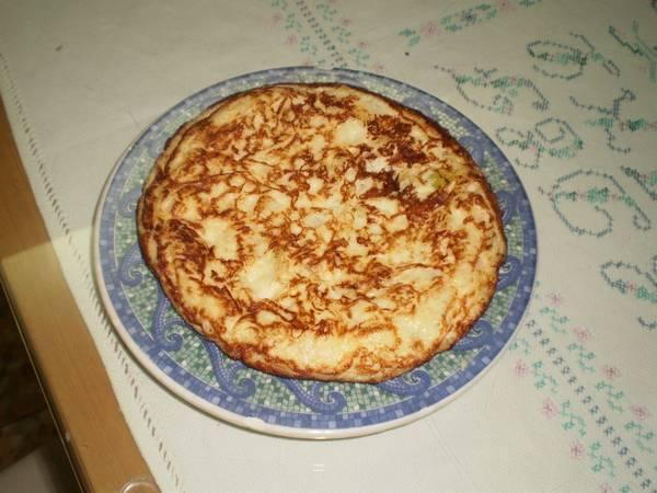 Tortilla de calabacín (Microondas)