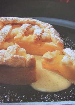 """Tarta de manzana austríaca """"entre rejas"""""""