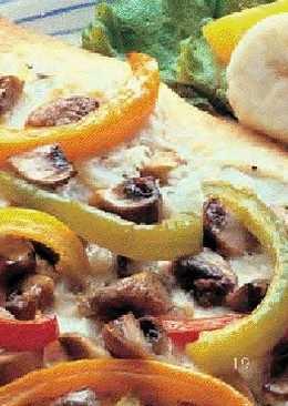 Pizza dos quesos un poco más sana