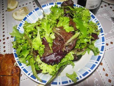 Ensalada verde y ligera