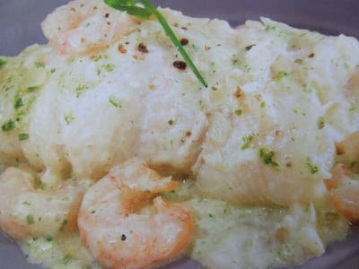 Gambas al horno con patatas receta de rebekita cookpad - Lenguado al microondas ...