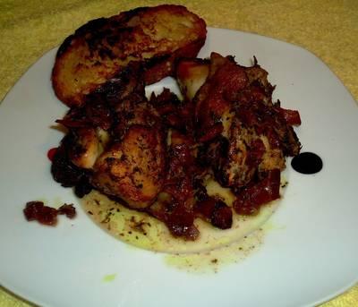 Pollo asado al horno, manchego