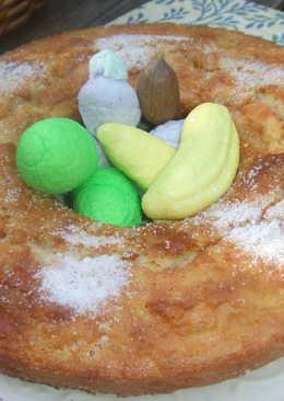 Pastel de zanahoria y manzana con mashmallow (nubecitas)