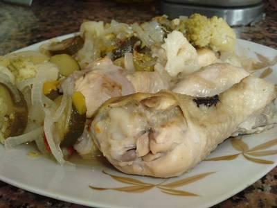 Muslos de pollo a la sidra