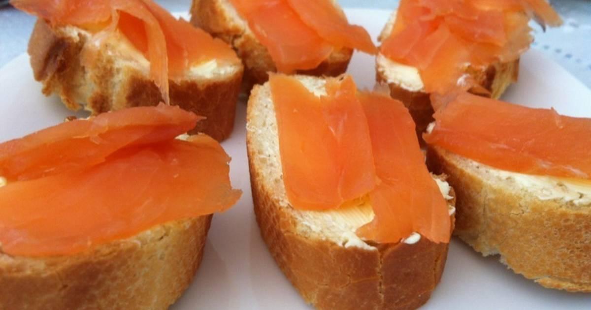 Canapes de salmon ahumado 10 recetas caseras cookpad for Canape de salmon ahumado