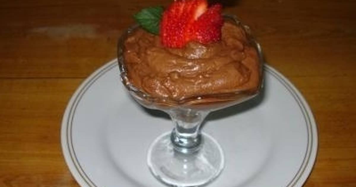 Crema de Chocolate Mousse de Chocolate Con Crema