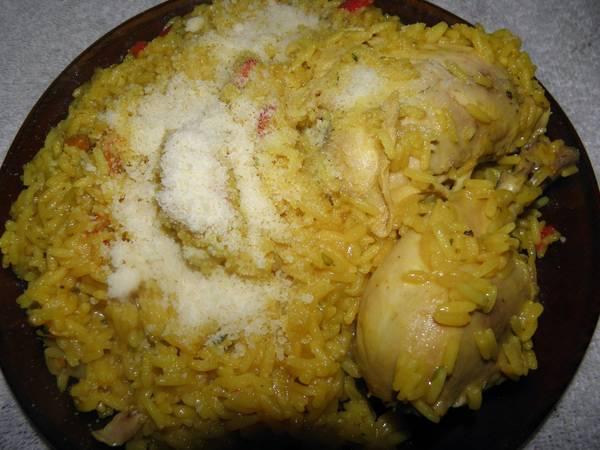 Arroz amarillo con pollo de mi abuela