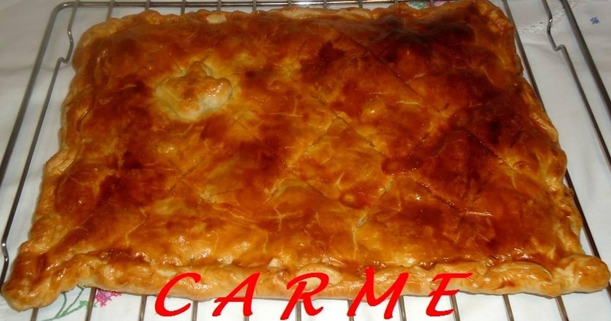 Hojaldre de gambas y jam n receta de carme castillo cookpad - Hojaldre de puerros y gambas ...