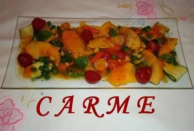 Menestra dulce de verduras y frutas