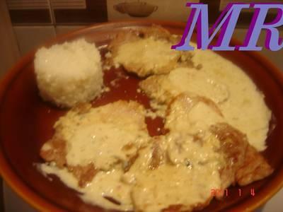 Lomo o solomillo ibérico con salsa de roquefort azul o cabrales