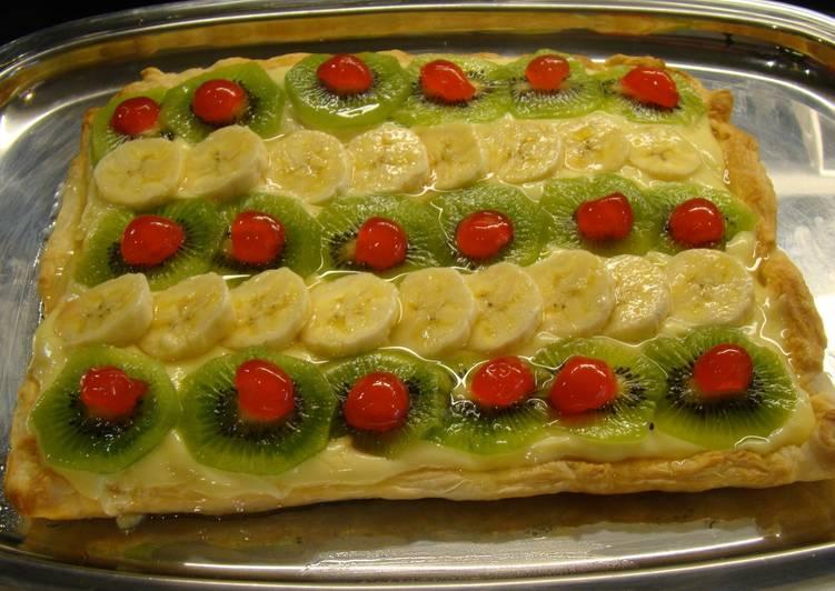 Tarta De Hojaldre Con Crema Y Frutas Receta De Marisa Marcos