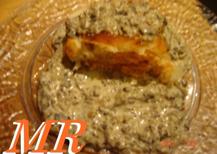 Crujiente de salm n con salsa de champi ones receta de - Salmon con champinones ...