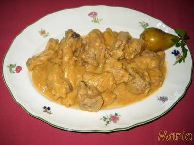 Pollo con peras