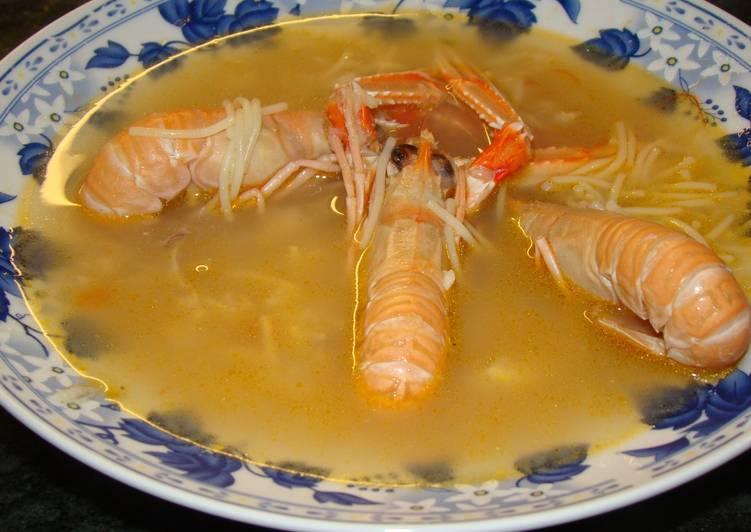 Sopa de pescado y marisco receta de marisa marcos ortega - Sopa de marisco y pescado ...