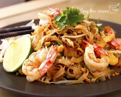 Pad thai (fideos fritos con gambas )