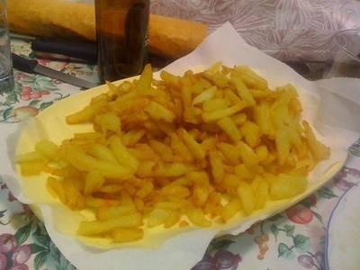 Patatas fritas bien hechas