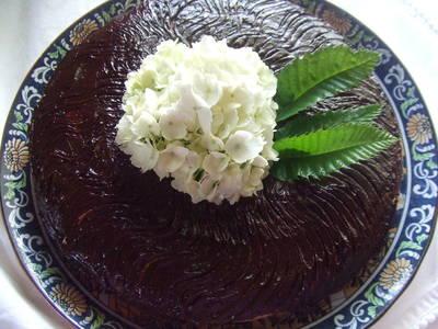 Tarta de chocolate hortensia