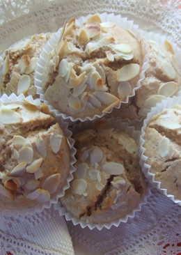 Muffins integrales de almendras y jengibre