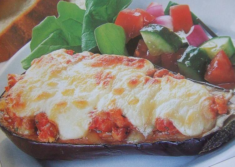 Berenjenas rellenas de carne de cerdo y verduras receta de - Berenjena rellena de carne ...