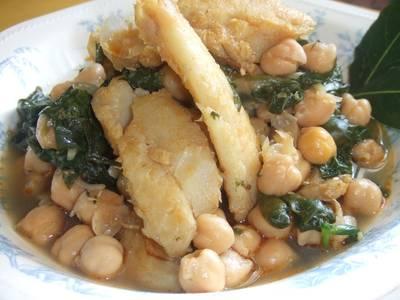 Potaje de tagarninas receta de marrongal cookpad - Potaje con bacalao y espinacas ...