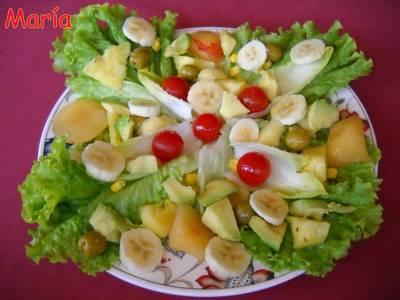 Ensalada mixta con fruta