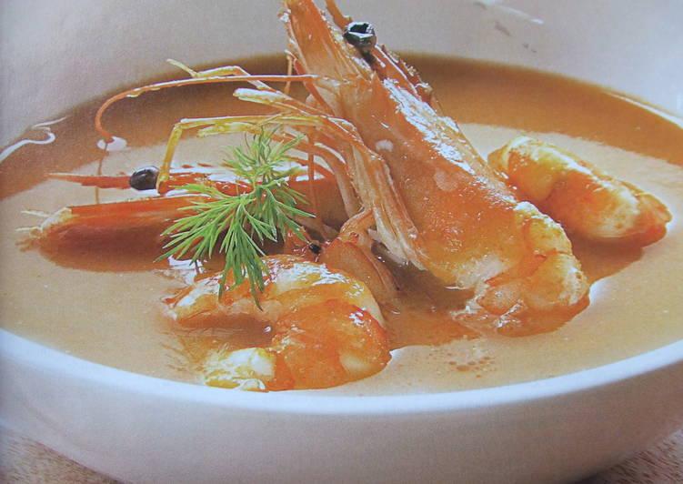 Sopa roja de pescado y marisco receta de cuqui cookpad - Sopa de marisco y pescado ...