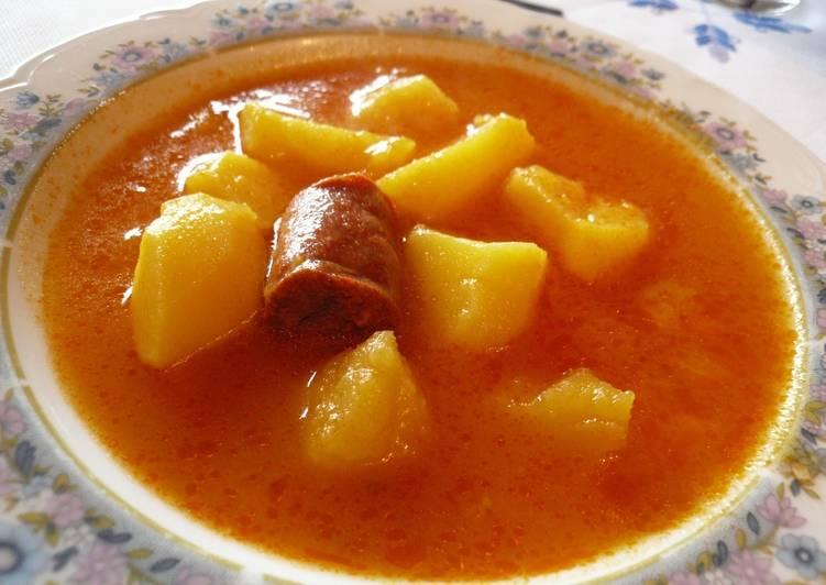 Patatas a la riojana con chorizo y costilla adobada receta de milandebrera cookpad - Lentejas con costillas y patatas ...