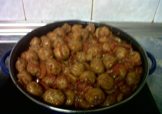 Alb ndigas tradicionales con verduras receta de carmenjimenez cookpad - Albondigas tradicionales ...