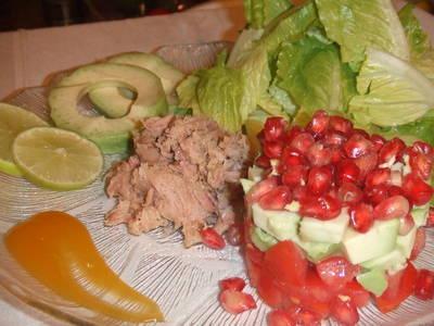 Ensalada de otoño con salsa de mango
