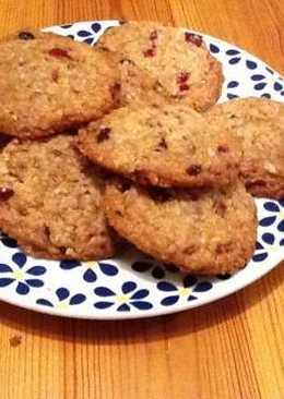 Cookies navideños de avena y arándanos