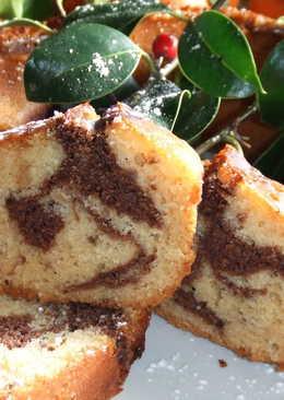 Torta de vainilla y chocolate al ron