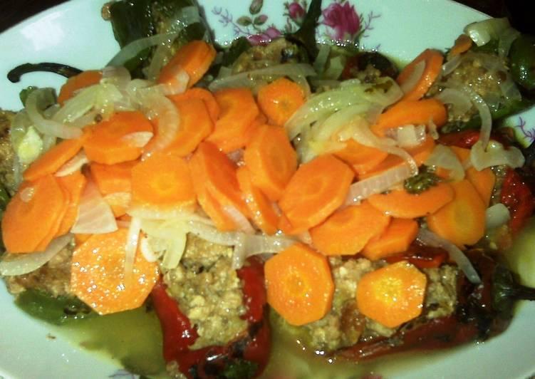 Chiles jalapeños rellenos en escabeche Receta de lenny - Cookpad