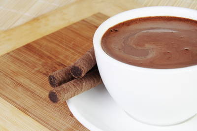 Chocolate a la taza del roscón de reyes