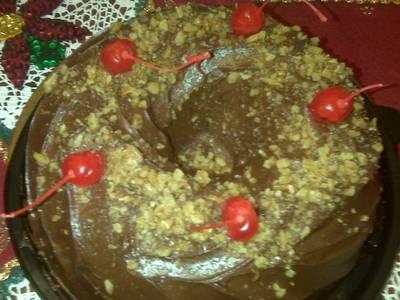 Pastel de chocolate de mi cumpleaños