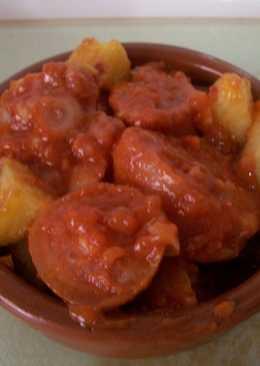 Cazuela de rabo de cerdo en salsa picantita