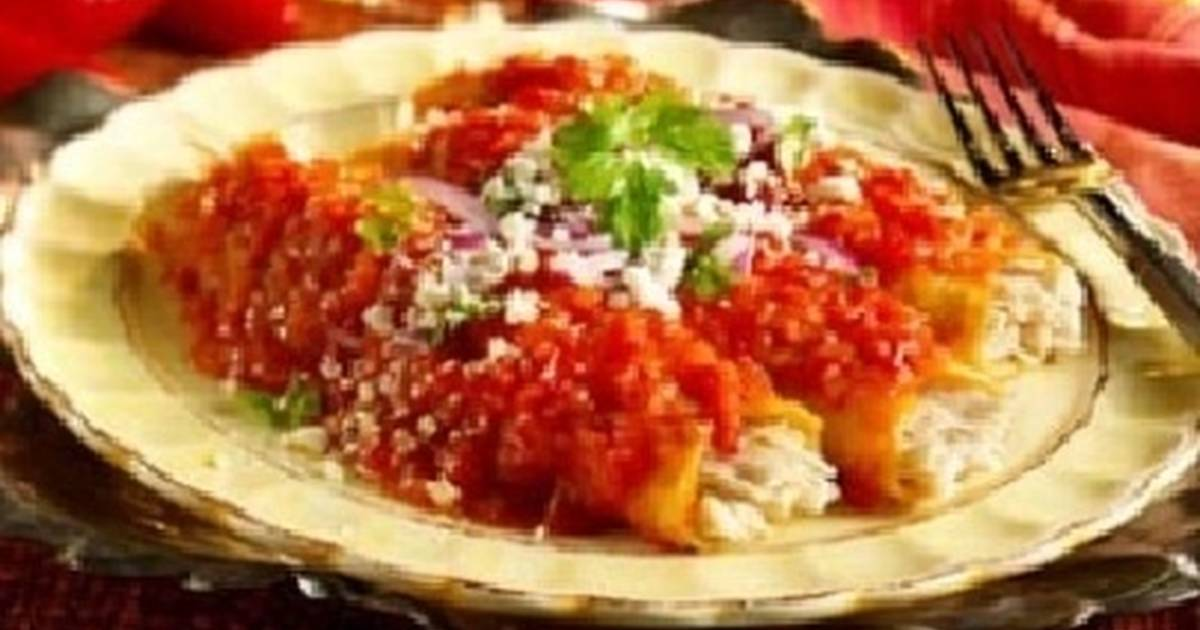 enchiladas rojas de pollo receta de lupita cookpad