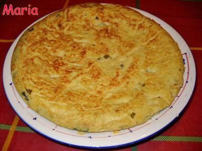Tortilla de patata y espárragos