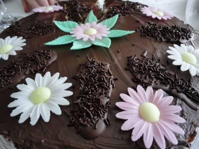 Pastel chocolate y fresas