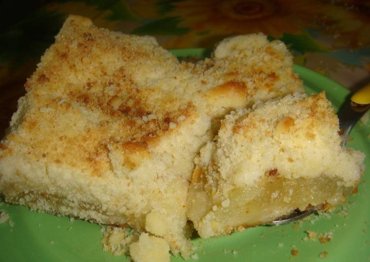Tarta arenosa de manzana