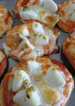 Mini pizzas de vieiras