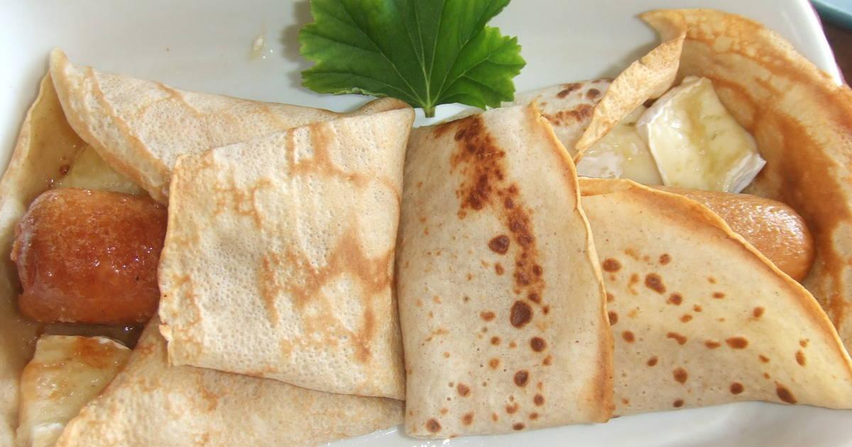 Cr pes de queso y salchichas receta de cuqui cookpad - Ingredientes para crepes ...