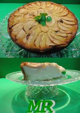 Tarta de manzana y arroz