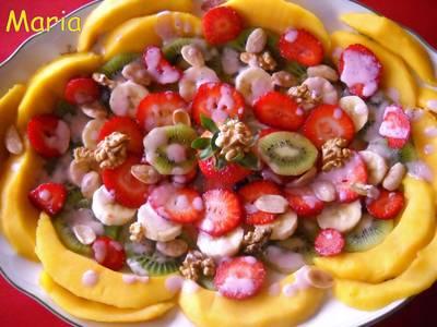 Ensalada de frutas afrodisiaca