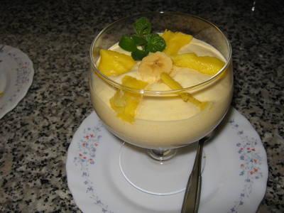 Mus de mango y plátano