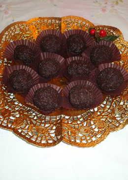 Trufas de chocolate con nata
