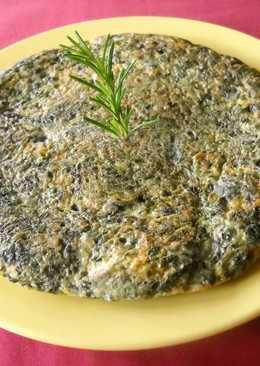 Tortilla de espinacas frescas con setas shiitake