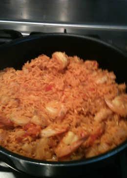 Yom yom de arroz y camarón