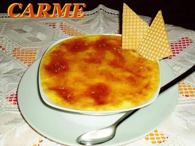 Crema de mango gratinada