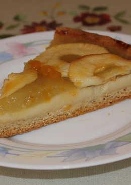 Tarta de manzana con base de almendras